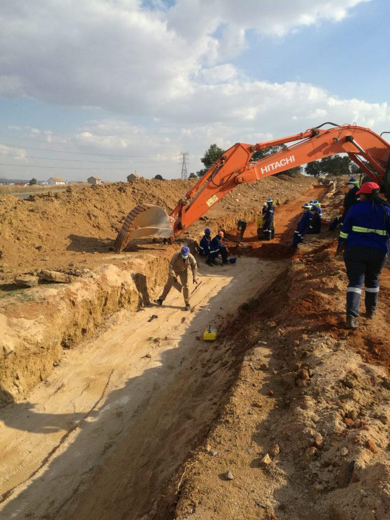 Water pipeline bedding